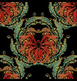 tapestry baroque seamless pattern vector image vector image