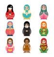 traditional russian matryoshka toy set vector image