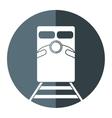 train rail road mass transit gray circle vector image