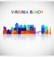 virginia beach skyline silhouette vector image vector image