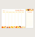 weekly planner template organizer and schedule vector image