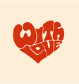 with love red heart letters vector image vector image