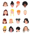Women avatar icons vector image vector image