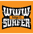WWW internet surfer typography graphics vector image vector image