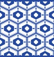blue and white mediterranean seamless tile pattern vector image