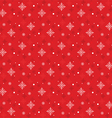 Snow Flakes Pattern Seamless on Red Background vector image