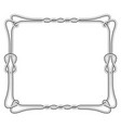rope square frame with knots and loops vector image