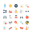 Fitness Icons 2 vector image