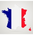Creative pixel France map vector image