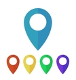 Map pins pointers flat icons vector image