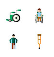 flat icon handicapped set of stand equipment