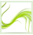 Abstract elegant green wavy pattern background vector image vector image