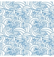 Abstract seamless pattern with abstract doodle vector image