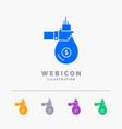 bag finance give investment money offer 5 color vector image