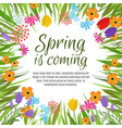 beautiful spring background with early vector image vector image