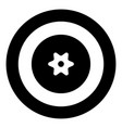 berry icon black color in circle or round vector image vector image