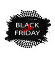 black friday sale abstract explosion black glass vector image vector image