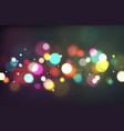 bokeh color light glowing blurry sparkles on vector image vector image