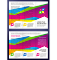 Brochure Tri-fold Layout Design Template triangles vector image vector image