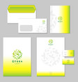 business identity set green vector image vector image