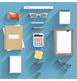Calculator Ruler and Paper vector image vector image