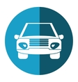 car vehicle transport front view blue circle vector image