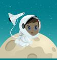 cartoon an astronaut vector image vector image