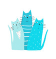 cats graphic print vector image