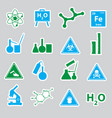 chemistry color stickers set eps10 vector image vector image
