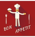chief cook character symbol toque cuisine hat vector image vector image