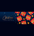 christmas horizontal banner header for website vector image