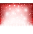 Christmas red background snowflakes vector image vector image