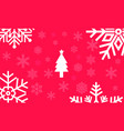 christmas red background with large snowflakes vector image