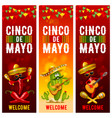 cinco de mayo banners set vector image