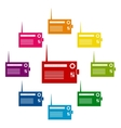 Colorfull icons set vector image vector image
