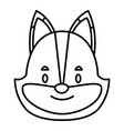 cute fox head cartoon vector image vector image