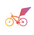 Cycling flat logo bicycle team icon vector image vector image