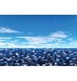 Defocused view on sea vector image
