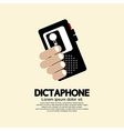 Dictaphone vector image vector image
