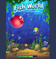 fish world match three loading screen vector image vector image
