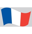 Flag of France waving vector image vector image