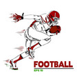 football american football player background vector image vector image