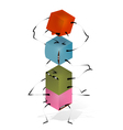 Funny Toy Blocks Pyramid vector image