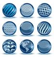 Glossy spheres set vector image