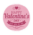 grunge vintage valentines day label - love card vector image vector image