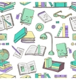 Hand drawn doodle Books Reading seamless pattern vector image