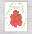 hand drawn poster with jar full of pepper with vector image vector image