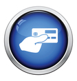 Hand holding credit card icon vector image vector image
