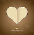 Happy Valentine day paper classic vector image vector image