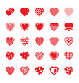 hearts flat icons pack vector image vector image